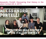 Lecture by Alessandro Portelli at our department on-line (April 2017)